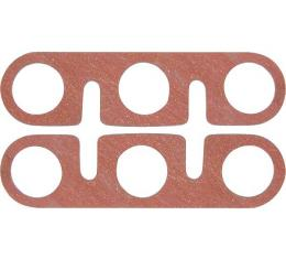 Intake and Exhaust Manifold Gaskets - Flat Asbestos-Like Type - 2 Pieces