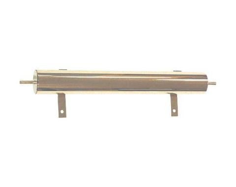 Model T Ford Overflow Tank - Polished Brass - 15 Long - 1-1/2 Pint Capacity