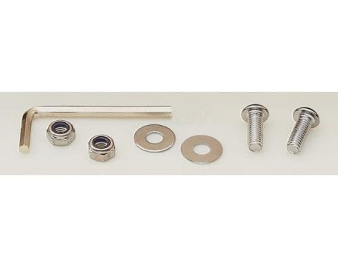 License Plate Fastener Kit, Chrome