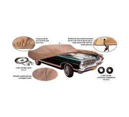 Car Cover - Gray Poly-Cotton
