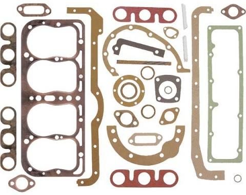 Model A Ford Engine Gasket Set - Original Copper Clad - May1931 To End