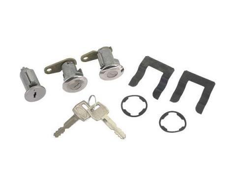 Ford Pickup Truck Door Lock & Ignition Cylinder Set - Includes 2 Keys - F100 Thru F500