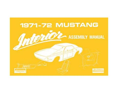 Ford Mustang Interior Trim Assembly Manual - 58 Pages