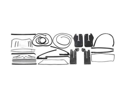 Ford Mustang Weatherstrip Kit - Convertible - 13 Seals WithStainless Steel Bead Belt Weatherstrip - From 9-7-64
