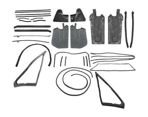Ford Mustang Weatherstrip Kit - Convertible - 13 Seals WithLate Style Door Window Rear Upper Seals