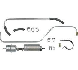 Model A Ford Electric Fuel Pump Kit - For Weber Carburetors(A9425/9510W) - 6 Volt Negative Ground