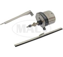 12 Volt Wiper Kit With Motor, Arm, And Blade, Stainless Motor Cover