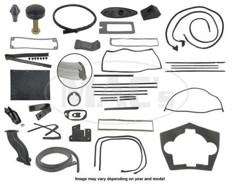 Thunderbird Complete Weather-Strip Kit, Hardtop, 5-Window, With Gray Trunk Rear Edge Seal, 1966
