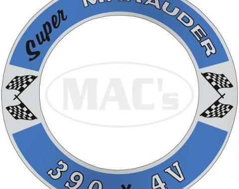 Air Cleaner Decal - Super Marauder 390 *4V - Mercury