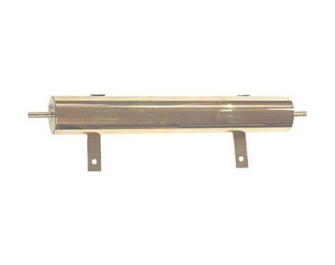 Model T Ford Overflow Tank - Polished Brass - 13 Long - 1-1/4 Pint Capacity