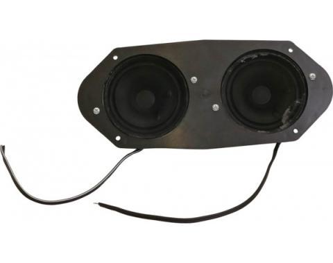 """Ken Harrison Speaker Assembly, w/ Dual 3.5"""" Speakers, 64-66Mustang"""