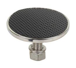 Clutch And Brake Pedal Pad - Pyramid Rubber With Stainless Steel Trim - Ford Passenger