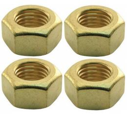 Exhaust Manifold Stud Nut - Brass - 7/16-20 - Ford FlatheadV8 Except 60 HP - 4 Cylinder Ford Model B