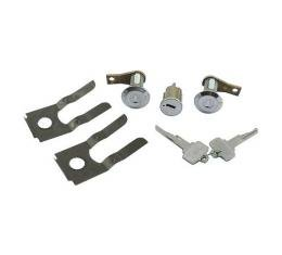 Ford Mustang Door Lock & Ignition Cylinder Set - Includes Special Pony Keys