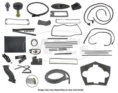 Thunderbird Complete Weather-Strip Kit, Hardtop, 3-Window, With Gray Trunk Rear Edge Seal, 1966