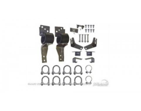 "Ford Mustang Exhaust Hanger Kit, Dual Exhaust Mount Kit 2"" - Orig Transverse Muffler 1967-69"