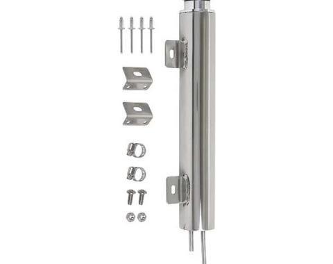 Radiator Overflow Tank - 1-1/4 Pint Capacity - Polished Stainless Steel - 13 - Ford & Mercury