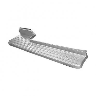 Ford Pickup Truck Short Bed Running Board - Stamped Steel With Ribs - Right - Only Correct For 6' Short Bed