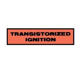 Transistorized Ignition Distributor Decal