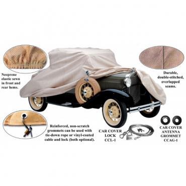 Car Cover, Gray Technalon, Closed Cab Pickup, 1928-1931