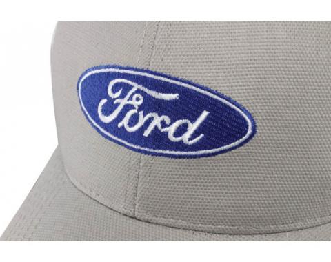 Ford Canvas Trucker Cap - Gray