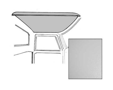 Ford Pickup Truck Headliner - Gray Non-Perforated - Ford Standard Cab Ford F100 To Ford F350