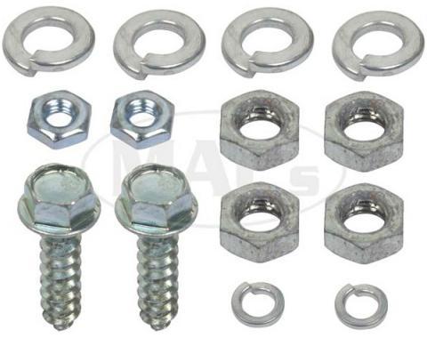 Starter Relay Solenoid Hardware Kit - Cadmium Finish - Ford& Mercury