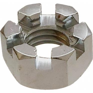 Castle Nut - Chrome - 9/16-12