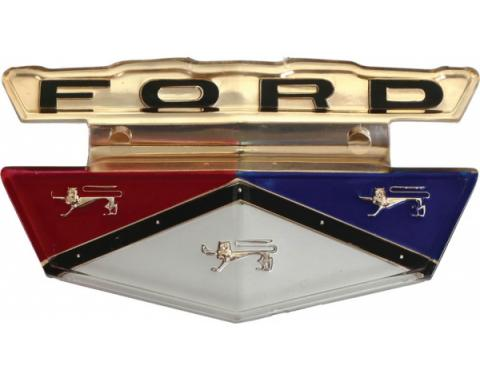 Fuel Filler Door Emblem Insert - Plastic - Ford