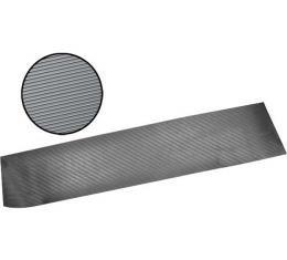 Model A Ford Running Board Matting - 2 Pieces - Black Rubber - Ribbed Design