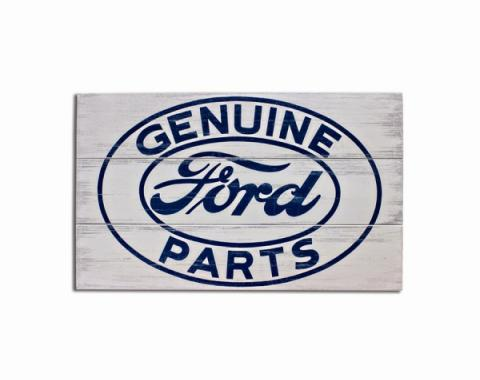 ''Ford Genuine Parts'' Wood Sign