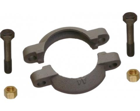 Model A Ford Muffler Exhaust Clamp - Coarse Threaded - Baked Gray Cast Iron Finish - Authentic Appearance