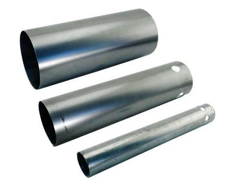 Model T Ford Muffler Shell Section - 3 Pieces - For Steel End Muffler - For 1 Bolt Style Castings