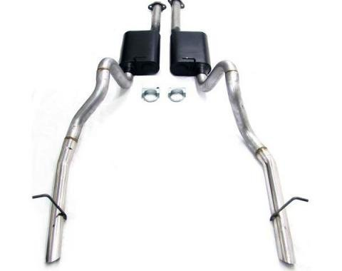 Mustang Flowmaster American Thunder Catback Exhaust System w/Stainless Steel OEM Style Tips, 1986-1993