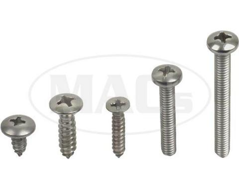 Exterior Screw Kit (32 Pieces), Fairlane, 1962