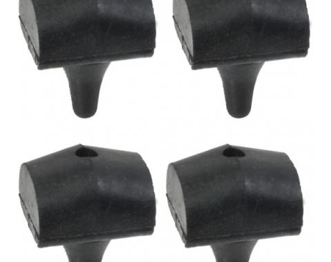 Ford Thunderbird Hood Bumper Set, 4 Pieces, Push-In Type, Attaches To Hood