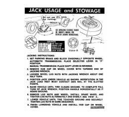 Ford Mustang Decal - Jack Instruction - Regular Wheels - Coupe Beginning Late 1971