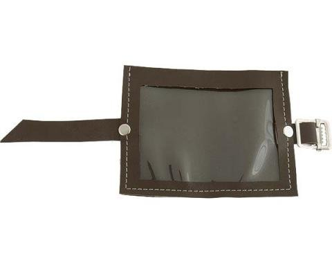 Registration Holder - Brown Vinyl With A Clear Plastic Window - 3-3/4 X 5