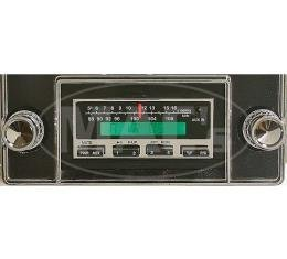 Ken Harrison In-Dash Stereo System, 200W, 1967-1973 Mustang,Chrome Nose
