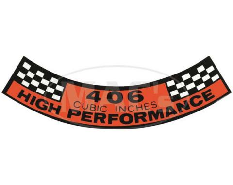 Air Cleaner Decal - 406 Cubic Inches High Performance