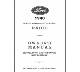 Radio Installation Handbook - Philco - 8 Pages - Ford