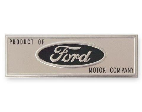 Ford Mustang - Scuff Plate Emblem, Black, 1965-1966