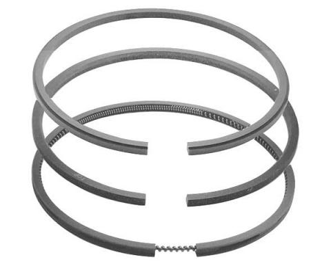 Piston Ring Set - 3 Ring Type - 4 Cylinder Ford Model B - 3.875 Bore - Choose Your Size