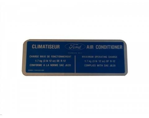 1979 Climatiseur A/C Charge Decal