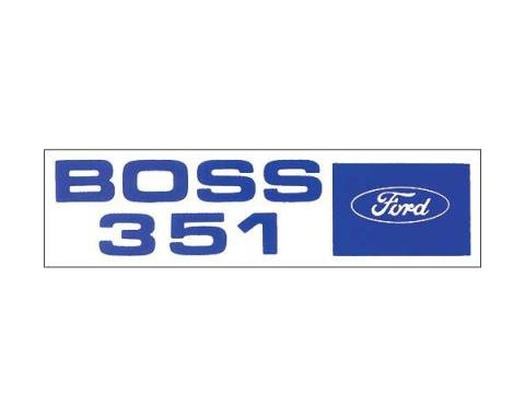 Ford Mustang Decal - Valve Cover - Boss 351