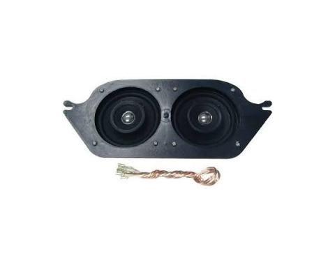 """Ken Harrison Speaker Assembly, w/ Dual 4"""" Speakers, 67-68 Mustang"""