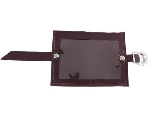 Registration Holder - Burgundy Vinyl With A Clear Plastic Window - 3-3/4 X 5