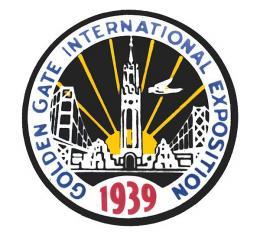 Nostalgia Decal - 1939 Golden Gate International Exposition- 2-3/4 Tall