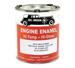 Engine Paint - High Gloss Enamel - Ford Flathead V8 Red-Orange - 1 Quart Can
