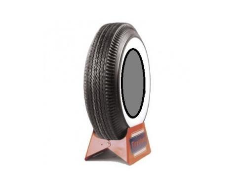 Tire, 670 X 15, 2-11/16 Whitewall, Tubeless, Firestone, 1955-56